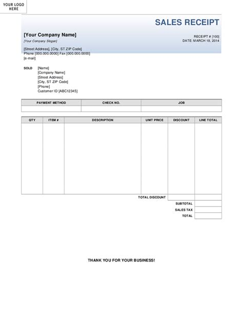 sales slip template receipt template uk images