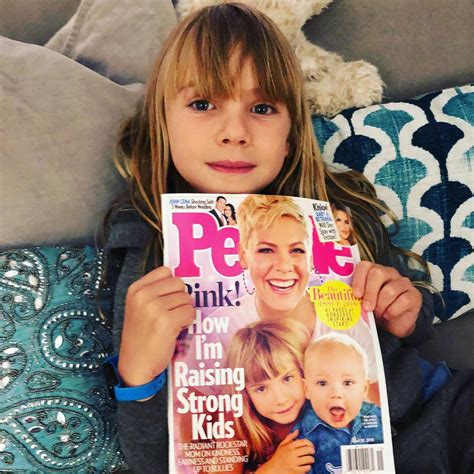 Carey Fronts Pinko Caign by Pink And Carey Hart S Cutest Family Photos