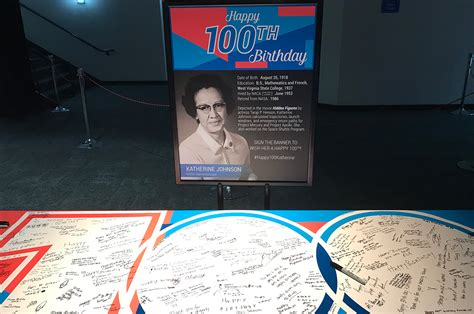 katherine johnson space center space center houston happy 100th birthday katherine johnson