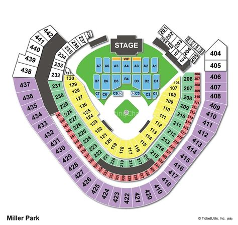 miller park section map miller park milwaukee wi seating chart view