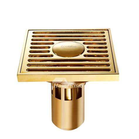 CB 50 3 Color Deep Water Fine Brass Square Shower Drain