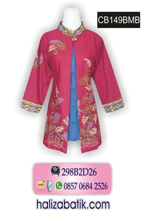 Hanum Blouse Blus Panjang Baju Atasan Top Busana Muslim Wanita the 25 best blouse batik modern ideas on modern batik dress dress batik kombinasi