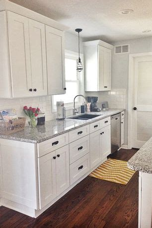 white shaker cabinets with granite best 25 galley kitchens ideas only on