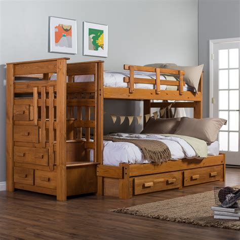 twin  full bunk bed  stairs  safety atzinecom