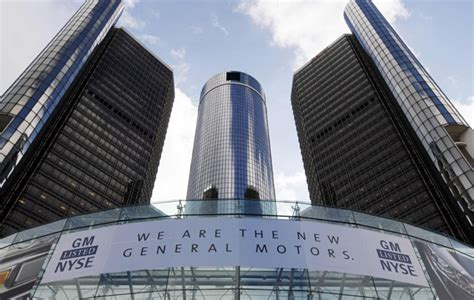 General Motors Corporate Office by Gm Blue Block Logo Is But Not Out