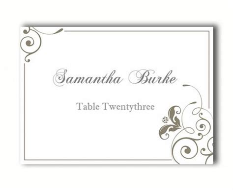place card template with table numbers place cards wedding place card template diy editable