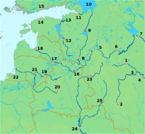 russia map river list of rivers of russia