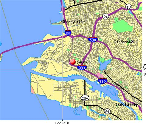 oakland zip code map oakland ca zip code map image search results