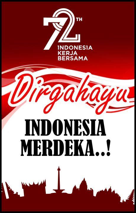 poster hut ri  dirgahayu kemerdekaan indonesia kerja