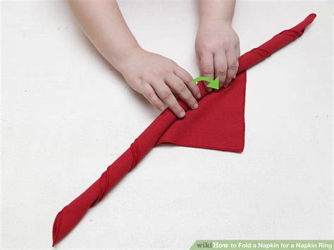 how to fold table napkins 4 ways to fold a napkin for a napkin ring wikihow