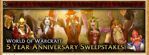 World Of Warcraft Giveaway - world of warcraft s 5th anniversary sweepstakes azeroth metblogs