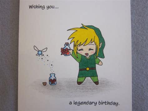 Link Birthday Card Zelda Birthday Card Link To My Heart Pinterest