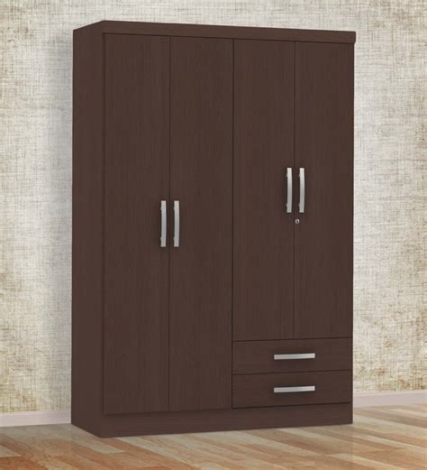 Wardrobe Door Finishes - buy marc four door wardrobe with drawer in oak finish by