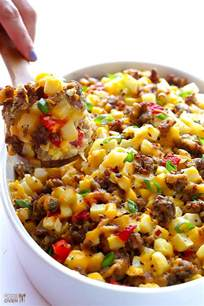 egg casserole with hash browns and vegetables