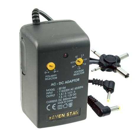 Adaptor Ac Dc maxiaids battery eliminator universal ac dc adapter
