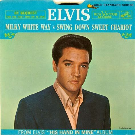 swing down sweet chariot lot detail elvis presley quot milky white way quot quot swing down