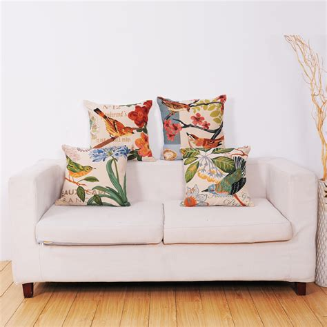custom couch cushion covers cushions digital printed custom cute bird sofa cushion