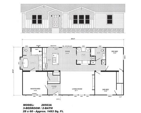 3 bedroom modular home floor plans house plans 3 bedroom floor plan b 2856 pat hawks homes