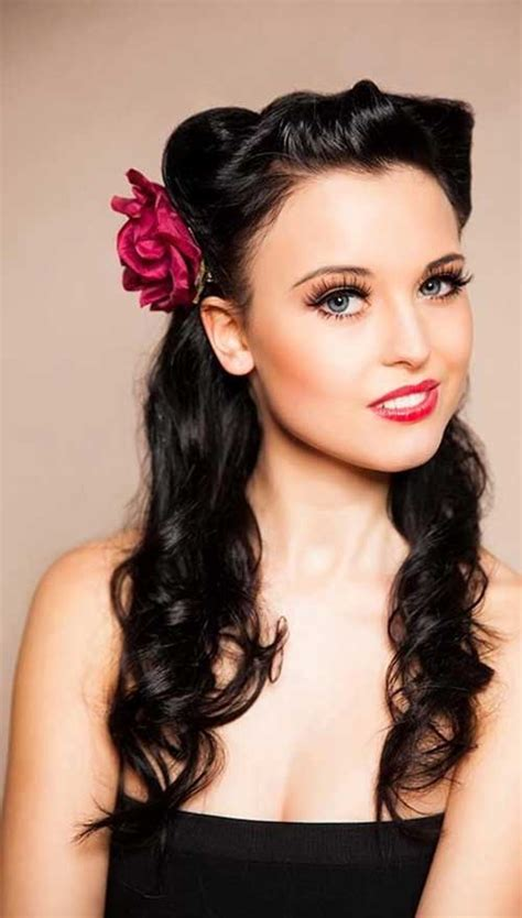 up hairstyles 25 pin up hairstyles for hair hairstyles 2016