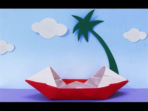 how to make a paper boat kindergarten fun crafts for kids how to make a paper boat origami
