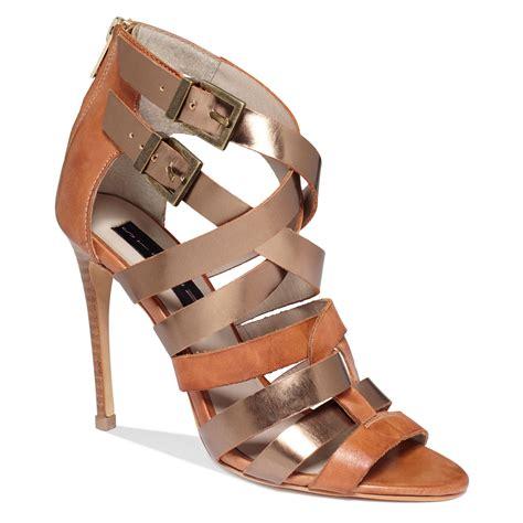 steve madden multifunction steve madden lively sandals in brown cognac multi lyst