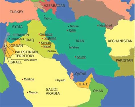middle east map mecca lines and deadlines map 2 sunni and shi a the