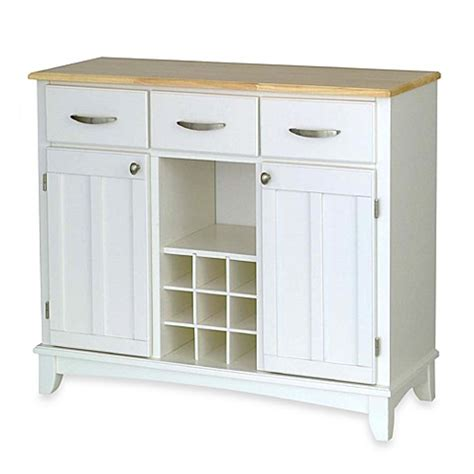 buy home styles large buffet server with natural wood top