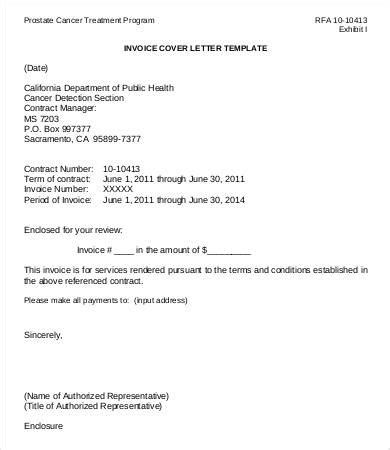 invoice cover letter sle invoice template 9 free sle exle format