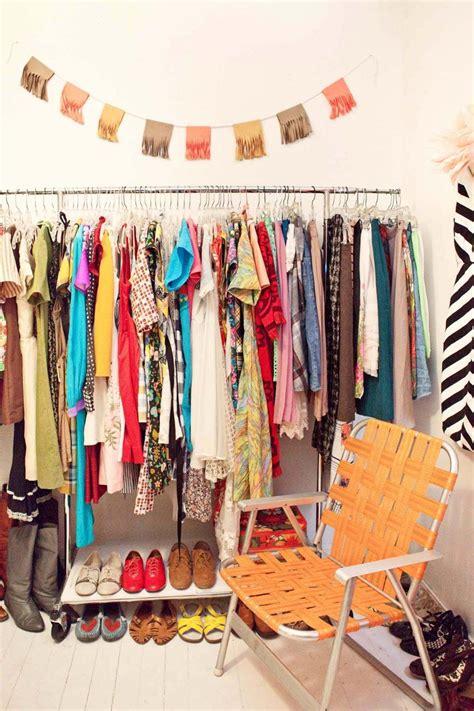 Makeshift Closets by Home Tour Closet A Beautiful Mess
