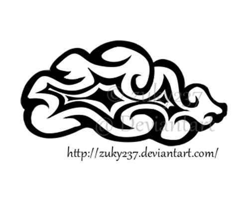 tribal cloud tattoo tribal cloud by zuky237 on deviantart