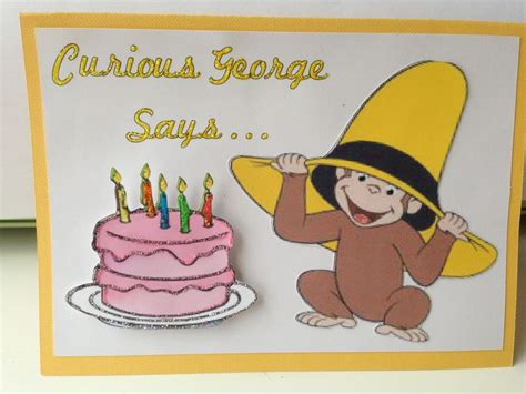 Curious George Birthday Card 17 Best Images About Scrapbooking Cards On Pinterest