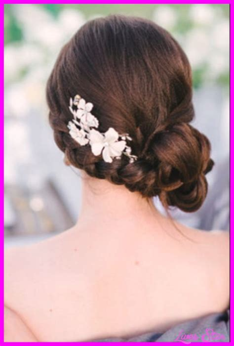 Bridal Hairstyles Low Bun With Flowers by Bridal Hairstyles Low Bun With Flowers Livesstar