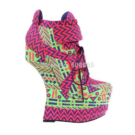 Wedges 5cm 16 new summer 16 cm wedge high heel ankle boots 5 5 cm platform