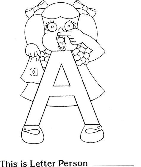 letter people coloring pages coloring home