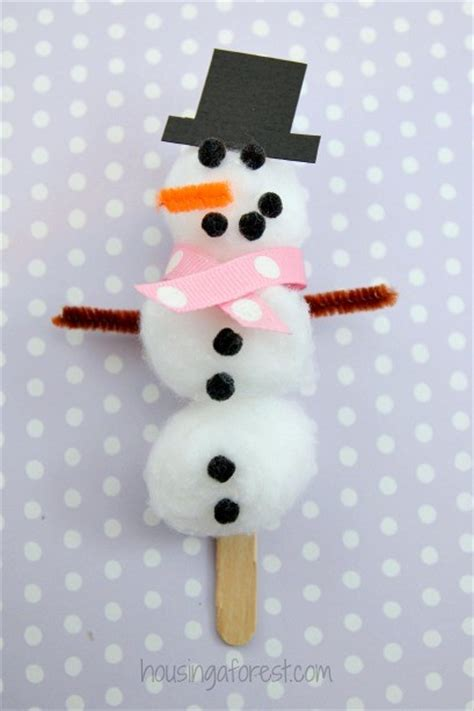 crafts snowman cotton snowman craft housing a forest