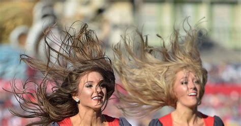 nfl cheerleader hair nfl cheerleaders save the best for last in week 17