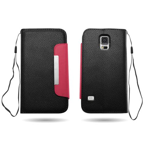 Samsung Galaxy S5 Wallet Leather Flip Cover Casing Dompet Kulit 2 for samsung galaxy s5 wallet flip magnetic leather feel phone cover