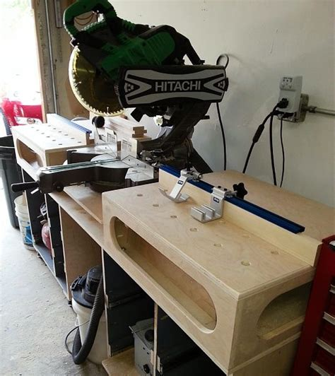 miter saw work bench paulk miter saw workbench good idea to just build boxes