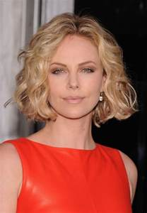 Charlize theron short blonde curly bob hairstyle hairstyles weekly