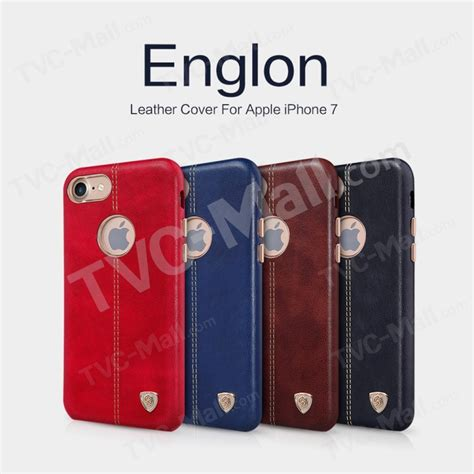 Nillkin Englon Leather Iphone 7 Casing Cover Merah nillkin englon leather coated plastic back for iphone 7 4 7 inch black tvc mall