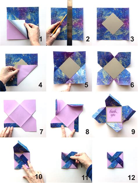 How To Make Origami Cards Step By Step - diy pinwheel fold card my paper arts
