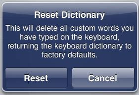 reset android keyboard dictionary apple ipad hard reset gsm forum