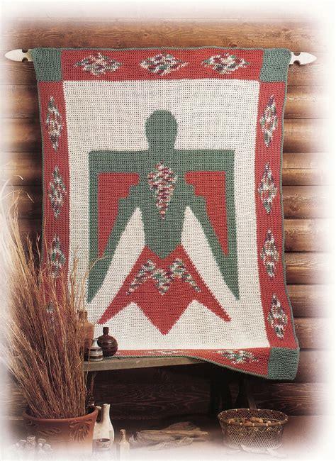 pattern wall decor thunderbird afghan crochet pattern blanket throw wall
