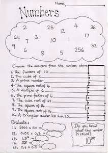 free numbers worksheet for middle ks3 mr