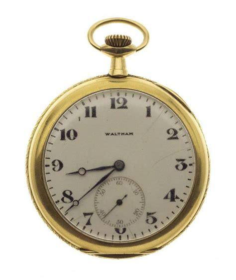 waltham 14kt gold open pocket serial number 33329
