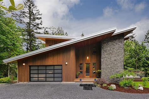 impressive modern cottage at the base of squak mountain