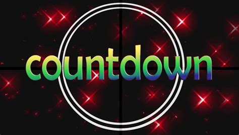 countdown timer with flashing light flashing light passes through countdown in animated