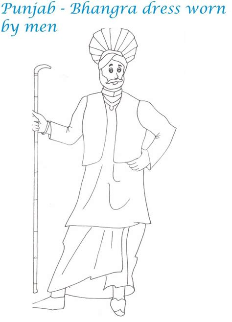 indian dress coloring page this dress goes with gloves coloring page indian dress
