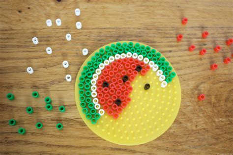 melty bead summer watermelon melty bead coasters owl