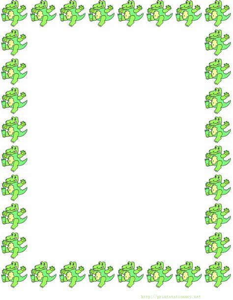 free dinosaurs border stationery paper free printable